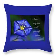 Let Yourself Bloom Throw Pillow