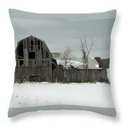 Letchworth Barn 0077b Throw Pillow