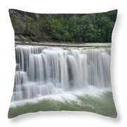 Letchworth Falls Sp Lower Falls Throw Pillow