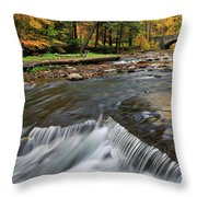 Letchworth Falls Sp Wolfe Creek Throw Pillow