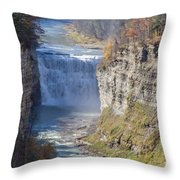 Letchworth Middle Falls Throw Pillow