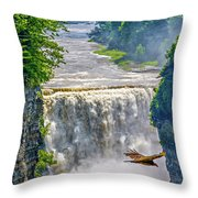 Letchworth State Park 4 Throw Pillow