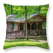 Letchworth State Park Cabin Throw Pillow