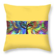 Let's Color This World By Kaye Menner Throw Pillow