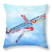 Let's Fly Throw Pillow
