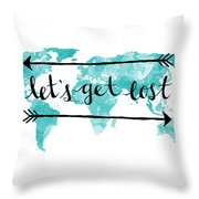Lets Get Lost 16x20 Throw Pillow