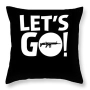 Lets Go Battle Royale Gaming Legendary Scar Rifle Birthday Gamer Gift T Shirt Throw Pillow