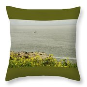 Let's Go Fishing Throw Pillow