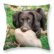 Let's Play Football Throw Pillow