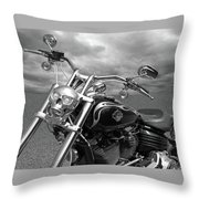 Let's Ride - Harley Davidson Motorcycle Throw Pillow
