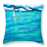 Let's Sail Away Throw Pillow