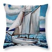 Let's Set Sail Throw Pillow