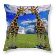 Let's Shape Up Throw Pillow