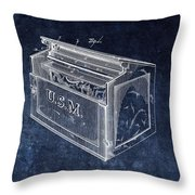 Letter Box Patent Throw Pillow