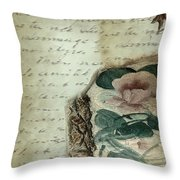 Letter From India Throw Pillow