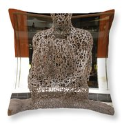 Letter Man In Color Throw Pillow