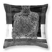 Letter Man Throw Pillow