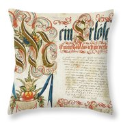 Letter With Signature Throw Pillow