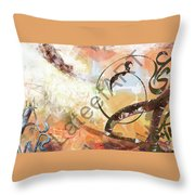 Letters Track Throw Pillow