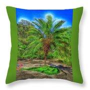 Leu Gardens Palm Throw Pillow
