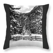 Leutasch Snow Trail 2 Throw Pillow