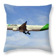 Level Airbus A330-202 Throw Pillow