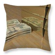 Level One Money Manifestation  Throw Pillow