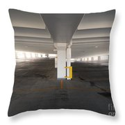 Levels Of A Parking Structure Throw Pillow