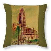 Leveq-lncoln Tower Columbus Ohio Throw Pillow