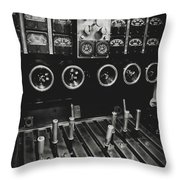 Levers And Gauges Throw Pillow