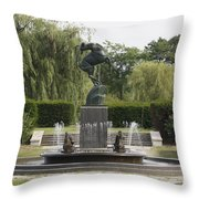 Levi L. Barbour Memorial Fountain Throw Pillow