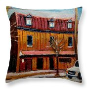 Levine Brothers Plumbers Montreal Throw Pillow