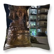 Lewis And Clark At The End Of The Trail -- Oregon State Coast Throw Pillow by Daniel Hagerman
