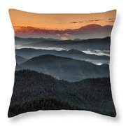 Lewis And Clark Route Throw Pillow