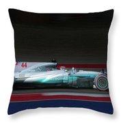 Lewis Hamilton Formula 1 Throw Pillow