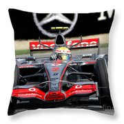 Lewis Hamilton, Mclaren- Mercedes Mp4-22 Throw Pillow