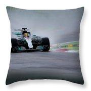 Lewis Hamilton Monza 2017 Throw Pillow