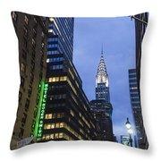 Lexington Avenue, Chrysler Building, New York  Throw Pillow by Juergen Held