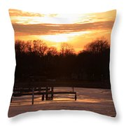 Lexington Harbor Sunset Throw Pillow