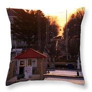 Lexington Harbor Throw Pillow by Kathy DesJardins