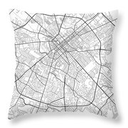 Lexington Kentucky Usa Light Map Throw Pillow