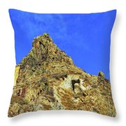 Leydon Hill With Cave Throw Pillow