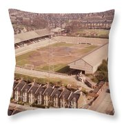 Leyton Orient - Brisbane Road - Aerial View 1 - Looking South East Throw Pillow