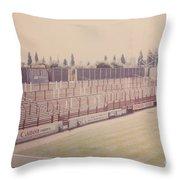 Leyton Orient - Brisbane Road - Buckingham Road Terrace South Goal 1 - August 1986 Throw Pillow