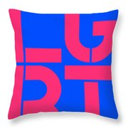 Lgbt Blue And Pink Throw Pillow