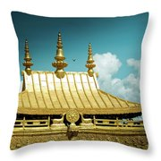 Lhasa Jokhang Temple Fragment Tibet Artmif.lv Throw Pillow