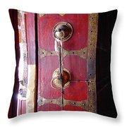 Lhasa Temple Door Throw Pillow