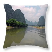 Li River At Xingping Throw Pillow