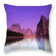 Li River Near Yangshuo Throw Pillow