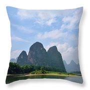 Li River Throw Pillow
